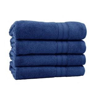 Spunloft 4-Piece Navy Solid Cotton Bath Towel Set