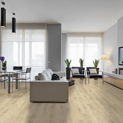 DecoCore White Oak 5.1 in. W x 25.4 in. L .27 in. T Click-Lock Luxury Vinyl Plank Flooring (14.5 sq. ft. / case)