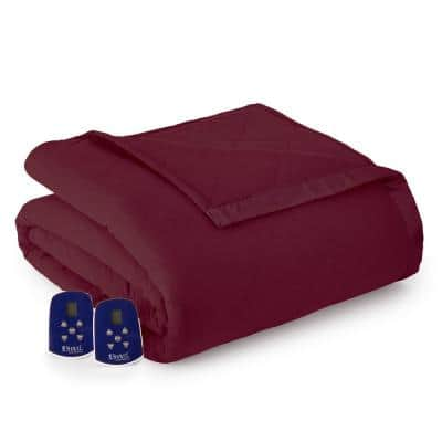 Full Wine Electric Heated Comforter/Blanket