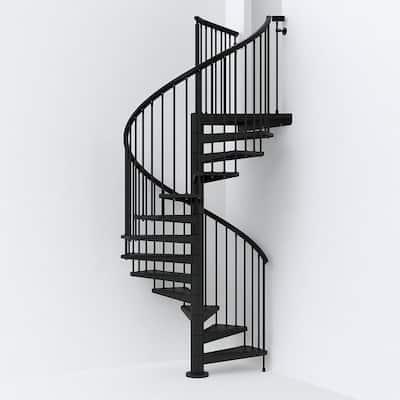 SKY030 63 in. Black Spiral Staircase Kit