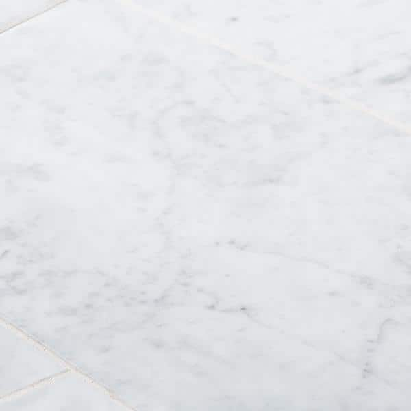 Jeffrey Court Carrara White 6 In X 12 In Honed Marble Wall And Floor Tile 1 Sq Ft Pack 98993 The Home Depot