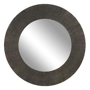 Medium Irregular Black Contemporary Mirror (35.0 in. H x 3.4 in. W)