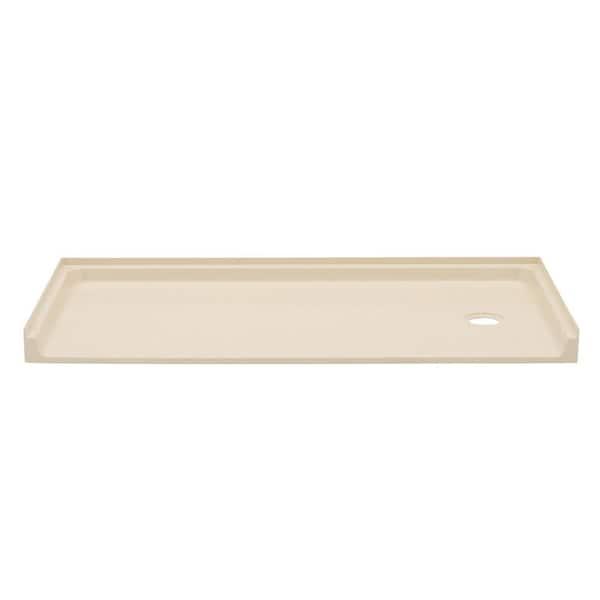 Durabase 30 In X 60 In Single Threshold Shower Floor In Bone 360rbn The Home Depot