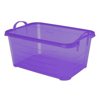 55 Qt. Locking Stackable Organization and Storage Container, Purple