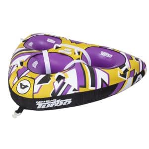 81 in. x 107 in. Turbo Blast 3-Person Inflatable Boat Towable Water Inner Tube
