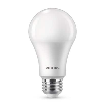 100-Watt Equivalent A19 Dimmable Energy Saving LED Light Bulb Daylight (5000K) (2-Pack)