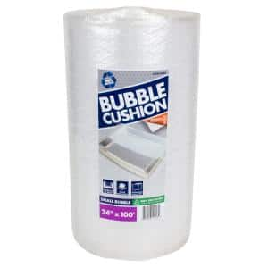 3/16 in. x 24 in. x 100 ft. Clear Perforated Bubble Cushion Wrap (2-Pack)