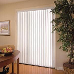 White Light Filtering 3.5 in. Vertical Blind Kit for Sliding Door or Window - 78 in. W x 84 in. L