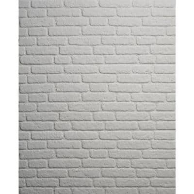 0.79 in. x 19.69 in. x 47.24 in. UltraLight Faux Brick White HD Printed Jointless Common Plank (4-Pack)