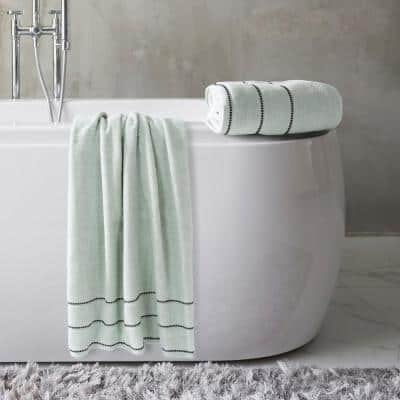 Zero Twist 2-Piece Solid Cotton Bath Towel Set