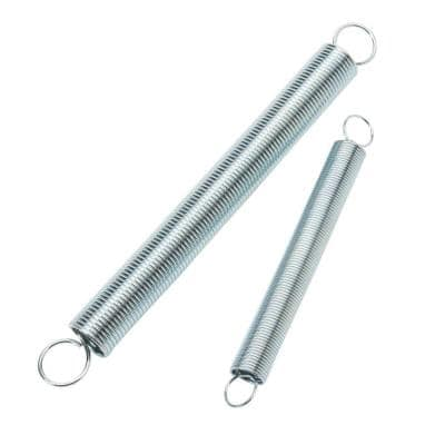 5/8 in. x 6-1/2 in. and 15/32 in. x 4-1/2 in. Zinc-Plated Extension Spring (4-pack)