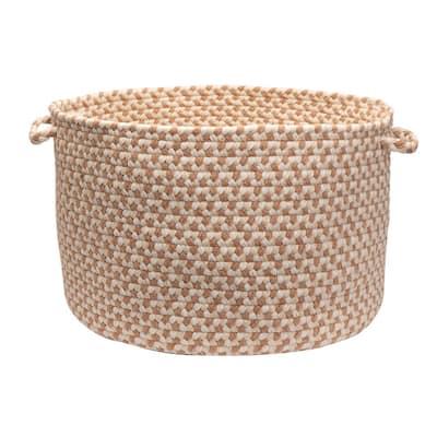 Dogwood 18 in. x 18 in. x 12 in. Evergold Round Wool-Blend Basket