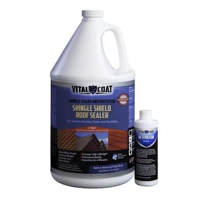 1 Gal. Clear Matt 100% Acrylic Shingle Shield Roof Coating for Rejuvenating Asphalt, Fiberglass and Clay Shingles