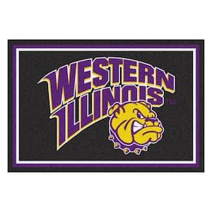 NCAA - Western Illinois University Violet 8 ft. x 5 ft. Indoor Area Rug