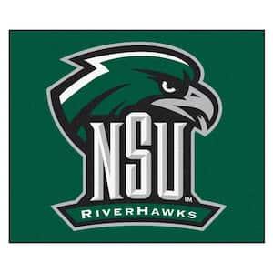 NCAA Northeastern State University Green 5 ft. x 6 ft. Area Rug