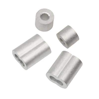 3/16 in. Aluminum Ferrule and Stop Set