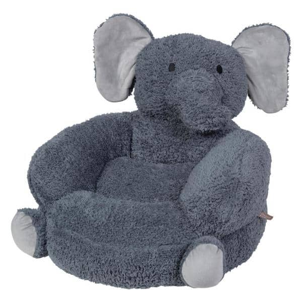 Trend Lab Gray Children's Plush Elephant Character Chair   The Home Depot