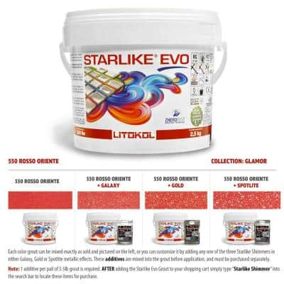 Glamour Collection 550 Rosso Oriente Starlike EVO Epoxy Grout