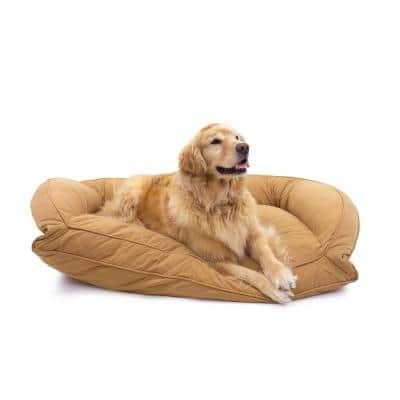 Large/X-Large Saddle Memory Foam Quilted Microfiber Bolster Bed