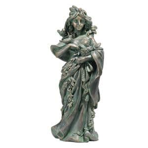 16 in. H Mother Nature Maiden of The Forest Garden Statue