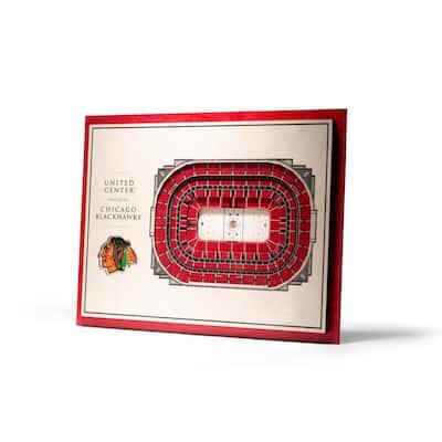 NHL Chicago Blackhawks 5-Layer Stadiumviews 3D Wooden Wall Art