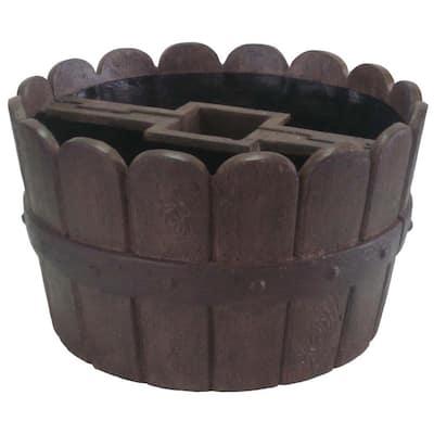 20 in. Dia x 12.25 in. H Barrel Stone Mailbox Barrel