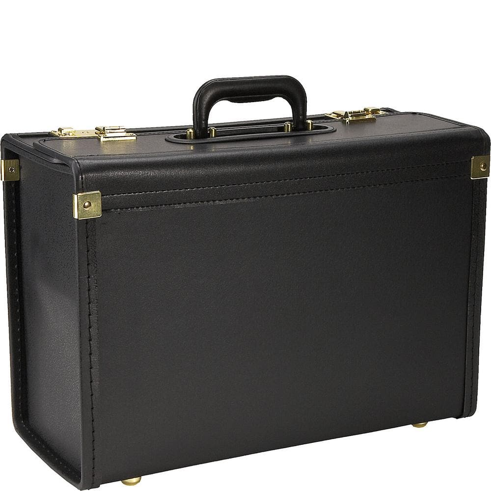 Heritage Vinyl Catalog Case/Attach Business Case with Secure Combination Lock Closures