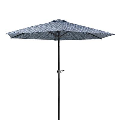 Vera Bradley 9 ft. Canopy Diameter Market Patio Umbrella in Ikat Island