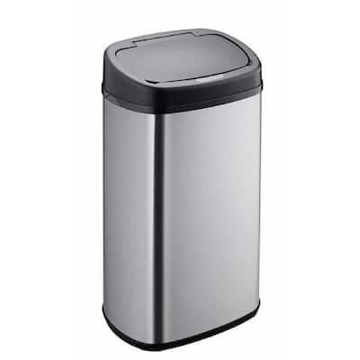15.3 Gal. Stainless Steel Ellipse Sensor Trash Can