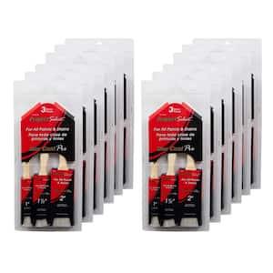 2 in. Flat, 1 in. Angled Sash, 1.5 in. Angled Sash Polyester Brush Set (12-Pack)