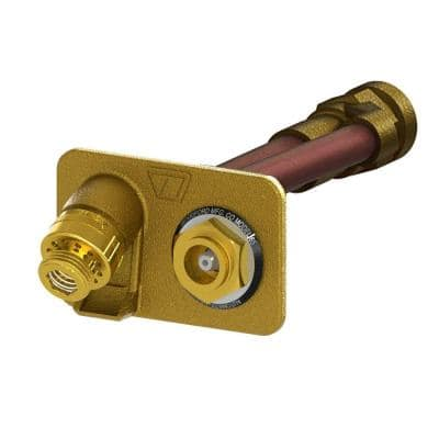 3/4 in. FPT x 6 in. Freezeless Brass Anti-Siphon Wall Hydrant