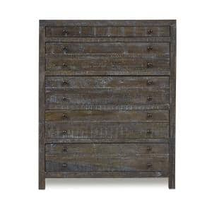 Townsend 5-Drawer Gunmetal Chest of Drawers 52 in. H x 42 in. W x 18 in. D