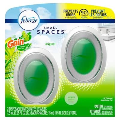 Odor Eliminating 25 fl. oz. Gain Original Scent Small Spaces Air Freshener (2-Count)