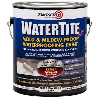 1 Gal. WaterTite LX Low VOC Mold and Mildew-Proof White Water Based Waterproofing Paint (2-Pack)