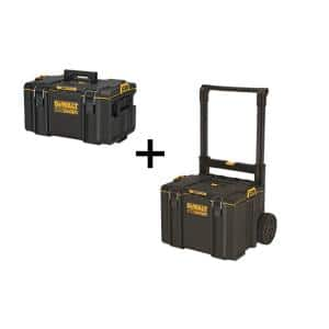 TOUGHSYSTEM 2.0 22 in. Medium Tool Box with Bonus 24 in. Mobile Tool Box