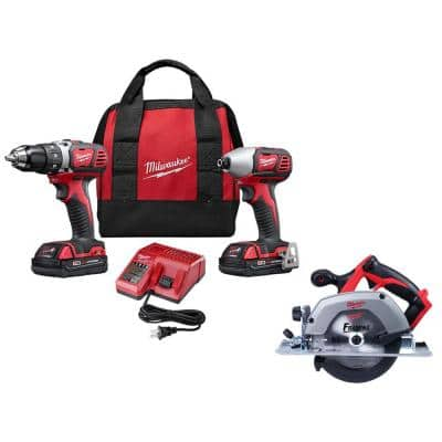 M18 18-Volt Lithium-Ion Cordless Drill Driver/Impact Driver Combo Kit (2-Tool) with Circular Saw