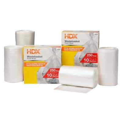 10 Gal. Clear Waste Liner Trash Bags (500-Count)