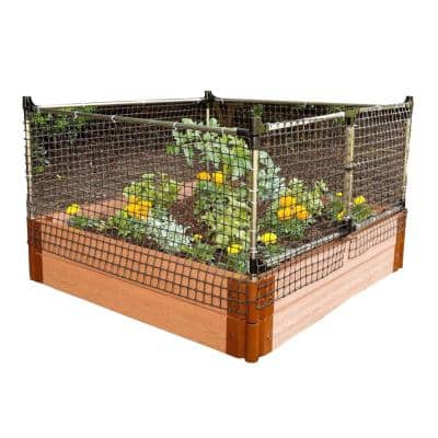 48 in. x 24 in. x 48 in. Stainless Steel Stack and Extend Animal Barrier