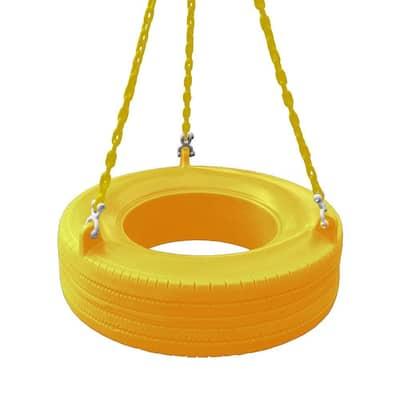 Yellow 360° Turbo Tire Swing