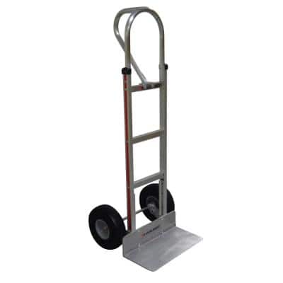 500 lb. Capacity Aluminum Hand Truck with Vertical Loop Handle, Extruded Nose Plate and Microcellular Foam Wheels