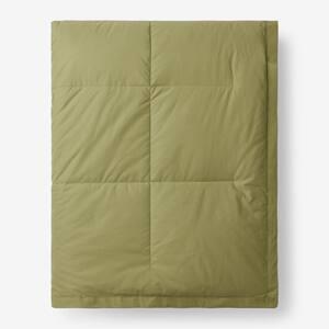 LaCrosse Down Fern Green Cotton Full/Queen Blanket