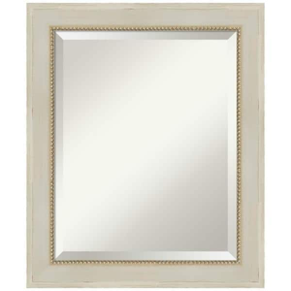 Amanti Art Parthenon Cream 24 25 In X 20 25 In Shabby Chic Rectangle Framed Bathroom Vanity Wall Mirror Dsw5247112 The Home Depot