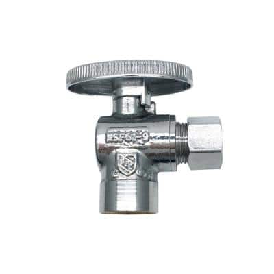 1/2 in. SWT Inlet x 3/8 in. O.D. Compression Outlet Quarter-Turn Angle Valve