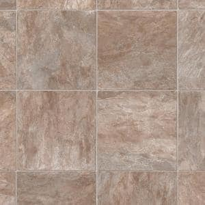 Pro Basic Refined Slate Neutral Stone Residential Vinyl Sheet Flooring 12ft. Wide x Cut to Length