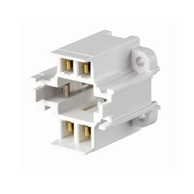 75W GX24q-3 Lamp Base 26W 4-Pin Screw-Down Compact Fluorescent Lampholder, White
