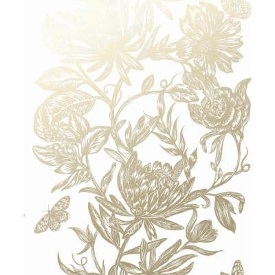Marquis Gold Floral Gold Wallpaper Sample