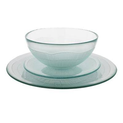 Recycled Glass Clear, 12 piece Birch Dinnerware Set (Service for 4)