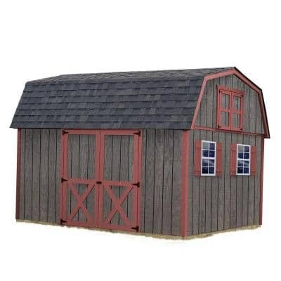 Meadowbrook 10 ft. x 12 ft. Wood Storage Shed Kit