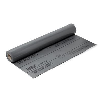 4 ft. x 50 ft. Gray PVC Shower Pan Liner Roll