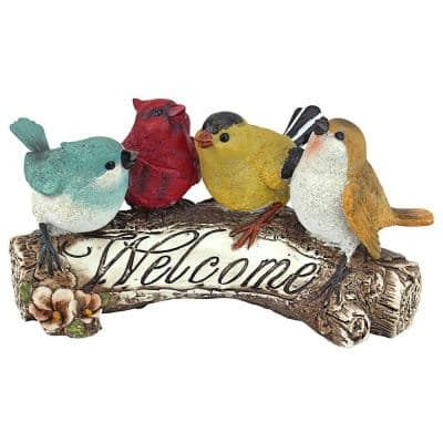 5 in. H Birdy Welcome Statue
